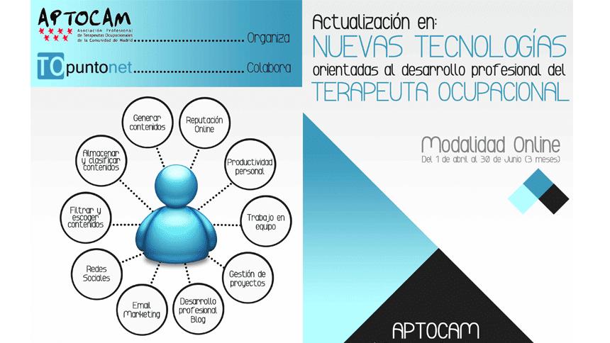 Curso online para terapeutas ocupacionales organizado por APTOCAM