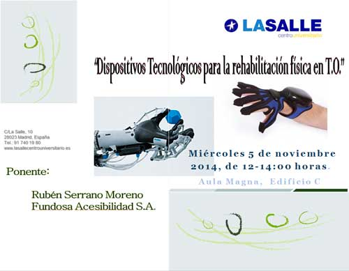 Jornadas gratuitas Dispositivos tecnológicos para la rehabilitación física en Terapia Ocupacional