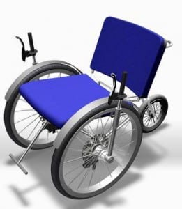 REHACARE 2014 a. Sistema de propulsión y conducción de sillas de ruedas mediante palancas