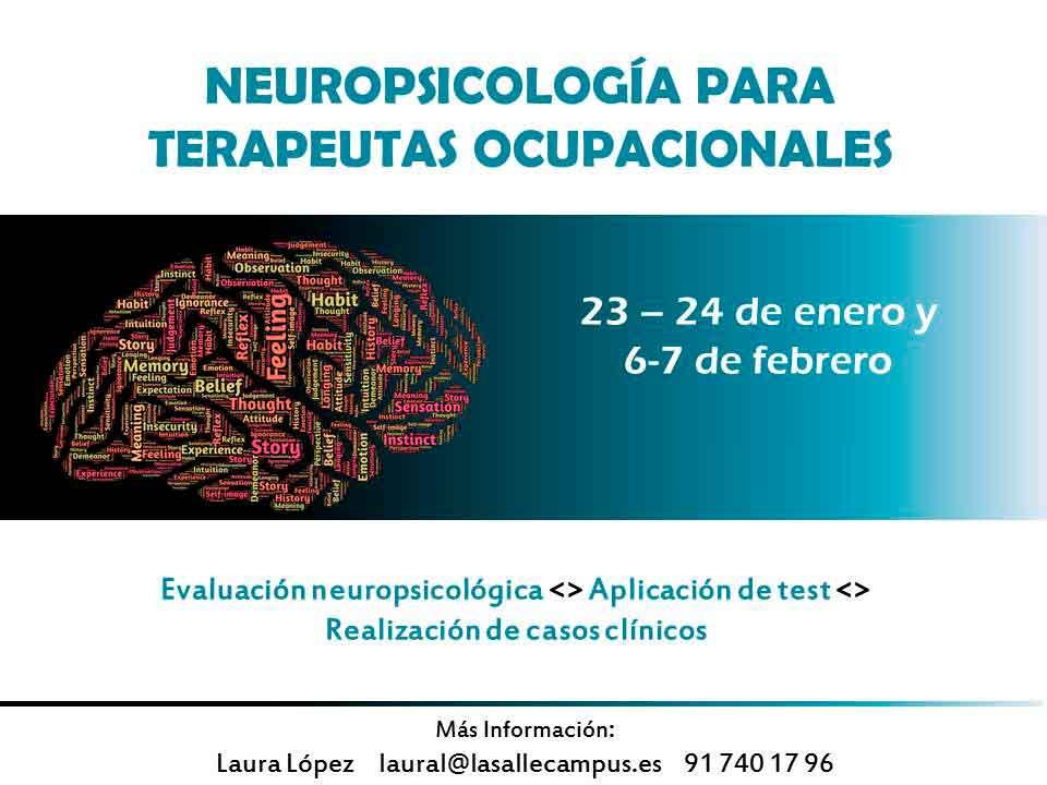 Curso de Neuropsicología para Terapeutas Ocupacionales