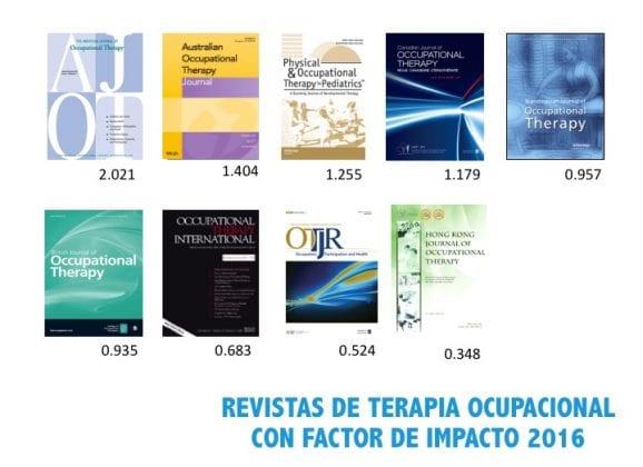 REVISTAS DE TERAPIA OCUPACIONAL CON FACTOR DE IMPACTO 2016